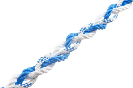 firmeza: Tres hilo trenzado aislado sobre fondo blanco