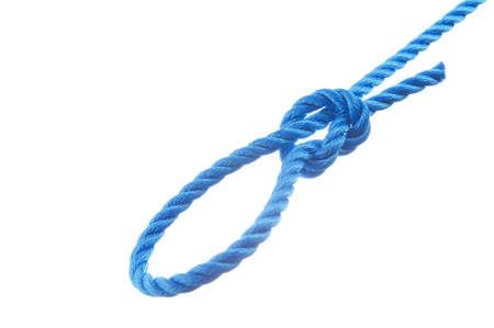 Slip knot  isolated on white background