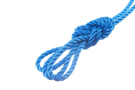 Triple bowline  isolated on white background