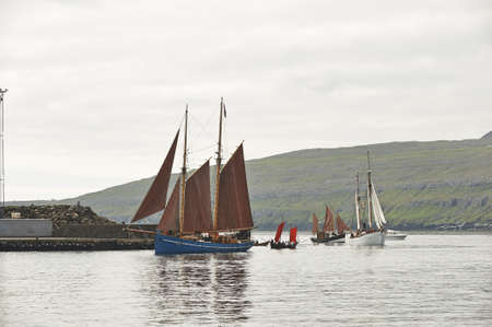 Old sailing ship in harbour