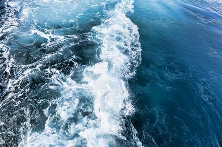 Whirlpool of ships propeller Stock Photo