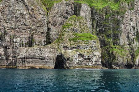 Vestmanna cliffs in the Faroe Islands Stock Photo