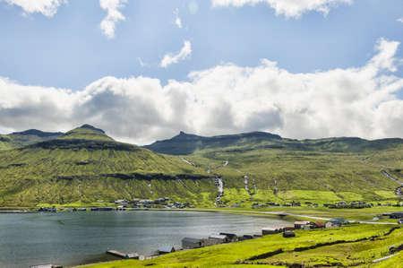 Landschaft auf den Färöern Standard-Bild - 21612417