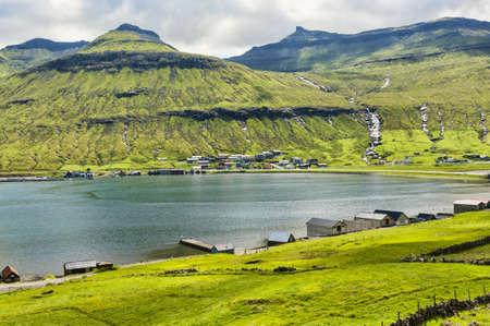 Landschaft in den Färöer-Inseln Standard-Bild - 21612438