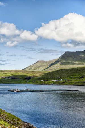 Lachszucht in den Färöern Standard-Bild - 21612529