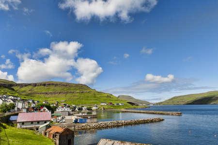Landschaft in den Färöer-Inseln Standard-Bild - 21612676