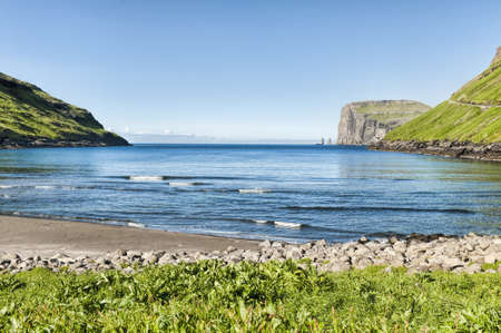 Landschaft in den Färöer-Inseln Standard-Bild - 21612817