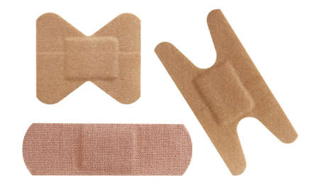 Set of three bandages  Stock Photo - 13355151