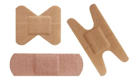 adhesive bandage: Set of three bandages  Stock Photo