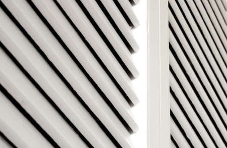 White shutter closet door detail for background with copy space  Stock Photo