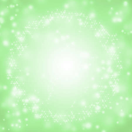 Sparkling green seasonal holiday background with white lights  photo