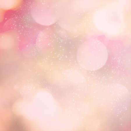 Soft pink light abstract background with sparkling white stars. photo