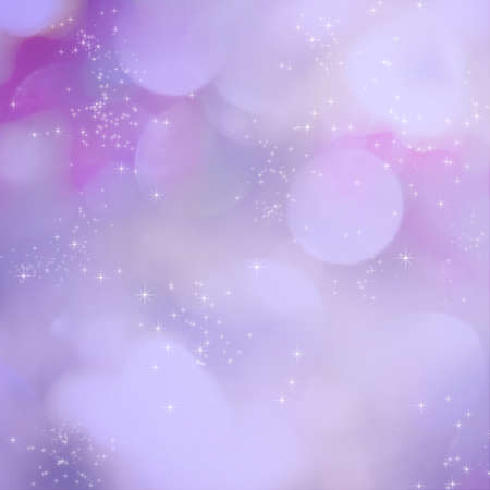 Soft purple light abstract background with sparkling white stars. photo