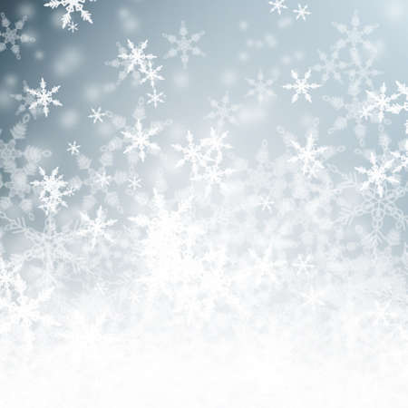winter background: Beautiful blue sparkling snowy winter background with copy space