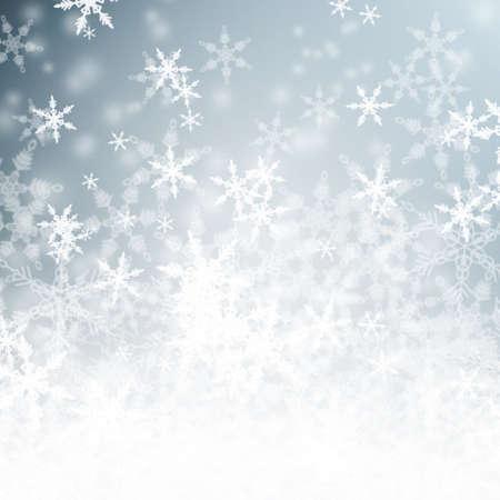 winter wallpaper: Hermoso fondo azul brillante invierno cubierto de nieve, con copia espacio Foto de archivo