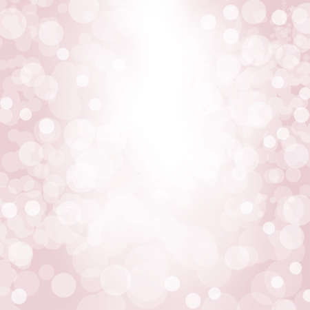 Sparkling pink seasonal holiday background with white lights.