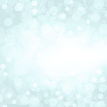 Sparkling blue seasonal holiday background with white lights