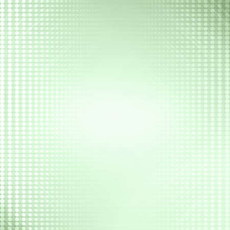 Green graphic pattern design background with white round dots and lighting effect. Stock Photo