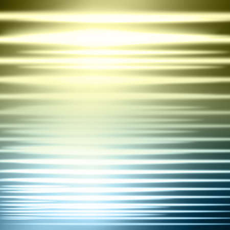Abstract glowing blue and gold linear light background with copy space.