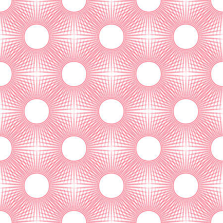 Red graphic pattern design background with white round dots.