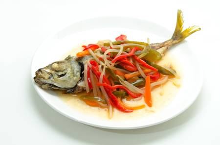 dish with mackerel