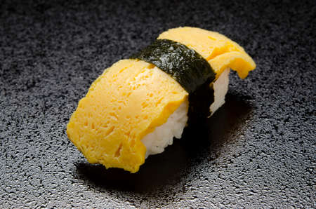 egg sushi Stock Photo