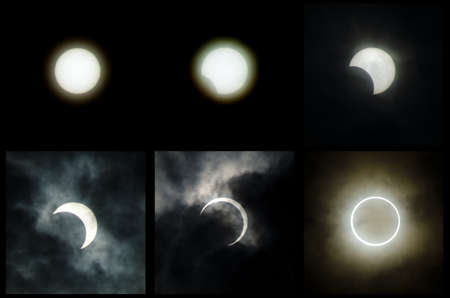The 2012 annular solar eclipse taken in japan