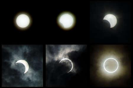 The 2012 annular solar eclipse taken in japan