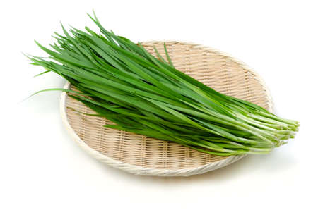 garlic chives Stock Photo