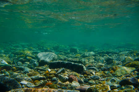 Onderwater fotografie serie Obonaigawa River. Dit beeld werd genomen door onder water SLR.