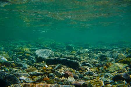 rios: S�rie fotografia subaqu�tica Obonaigawa River. Esta imagem foi feita pelo SLR subaqu�tica. Banco de Imagens