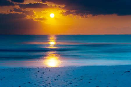 Dawn at seaside