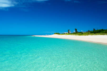 seacoast: Glistening white Maehama Beach  This image was taken in Okinawa Prefecture, Japan