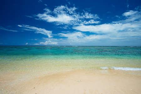 The Sea Horizon from YOSHINO Coast, Okinawa Prefecture Japan