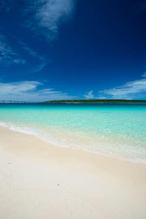KURIMA Island from MAEHAMA Beach, Okinawa Prefecture Japan Stock Photo