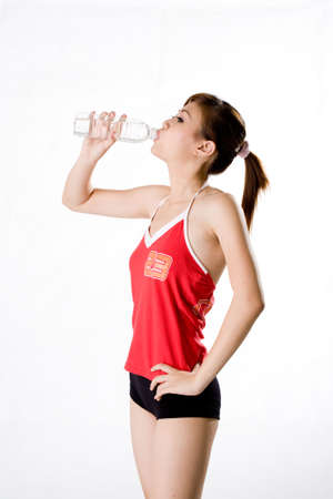 cool down: drinking water to cool down