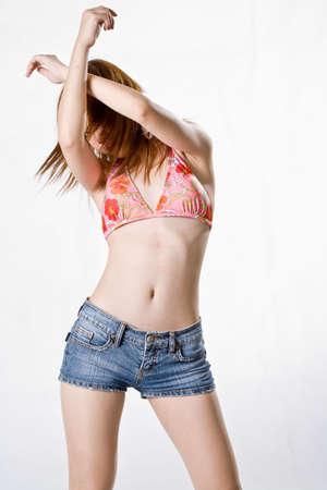 denim shorts: sexy dance