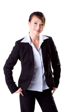 businesswoman with a big friendly smile photo