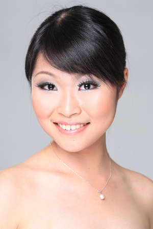 Sensual of an asian beauty smile photo