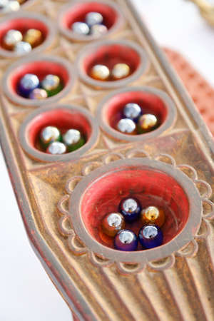 congkak, a traditional malay game of penang