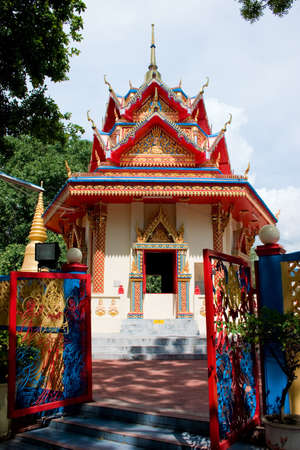 believes: colorful buddhist temple with buddhism ornament