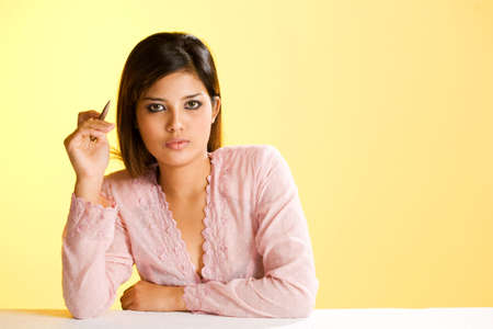 attractive muslim business woman photo