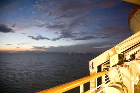beautiful sunrise by the sea horizon with cloudy sky Stock Photo - 3483586