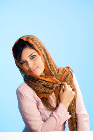 beautiful Muslim young woman in head scarf and traditional wear Stock Photo - 3558162