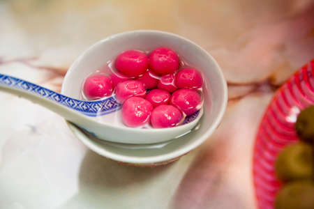 traditional sweet chinese glutinous rice ball for special occasion Stock Photo