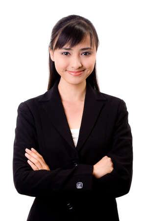 young beautiful confident asian business woman Stock Photo - 3641277