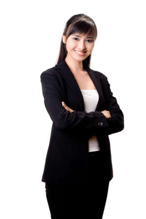 young beautiful confident asian business woman with a pleasant smile