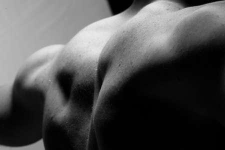 muscular back photo