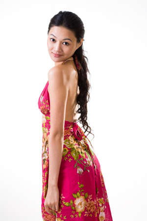 tall and slim asian young woman photo