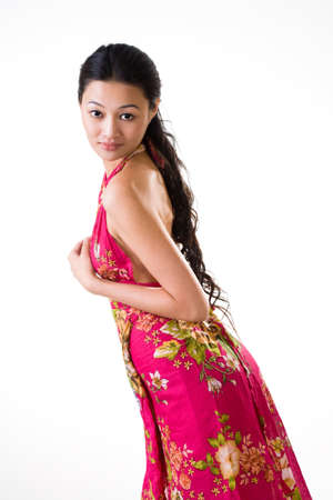 tall and slim asian young woman Stock Photo - 4144850